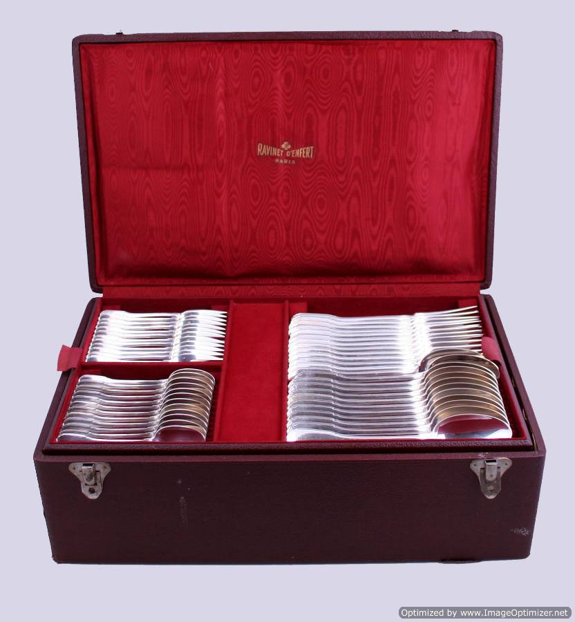 Ravinet D'Enfer French Sterling Silver Flatware Set